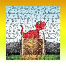 Dinosaur World Cartoon Jigsaw Magic Puzzle Fun Game for Kids