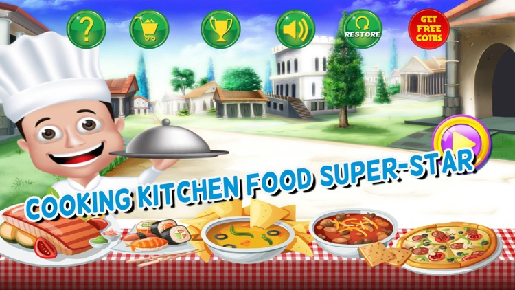Cooking Kitchen Food Super-Star - master chef restaurant carnival fever games