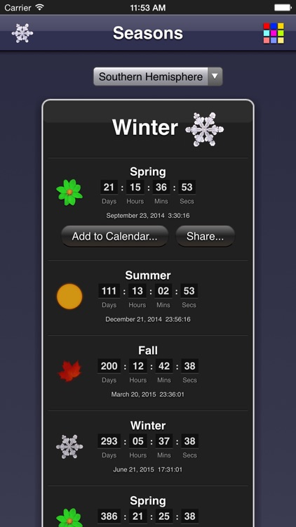 Seasons App screenshot-4