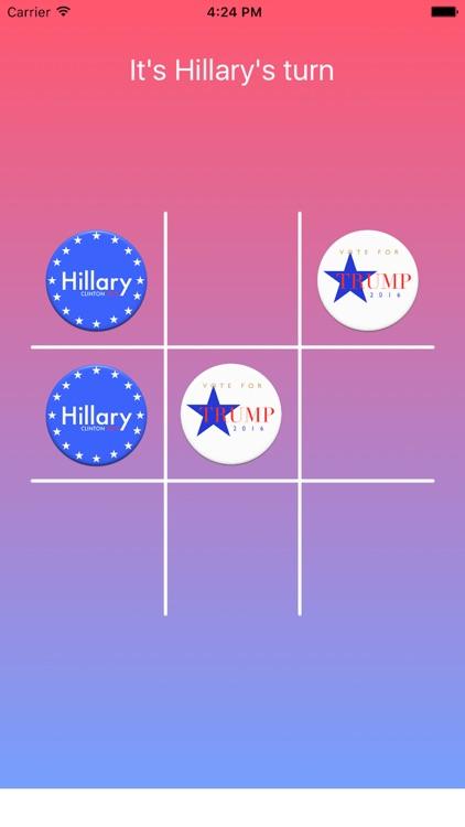 Tic Tac Toe 2016 General Election Edition Hillary Clinton vs Donald Trump