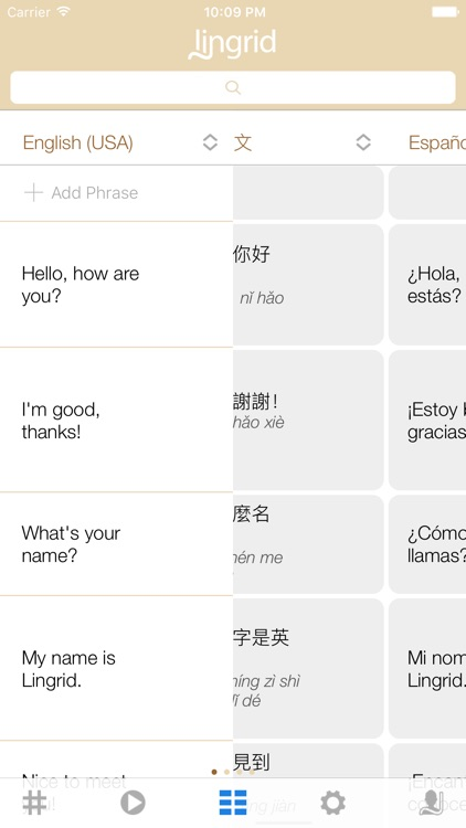 Lingrid - Language Cloud - Translate & Learn Lingo screenshot-0