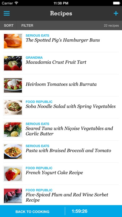 Recipe Menu Cooking Planner review screenshots