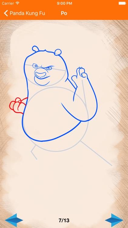 Artist Orange - How to Draw Panda Kung Fu screenshot-4
