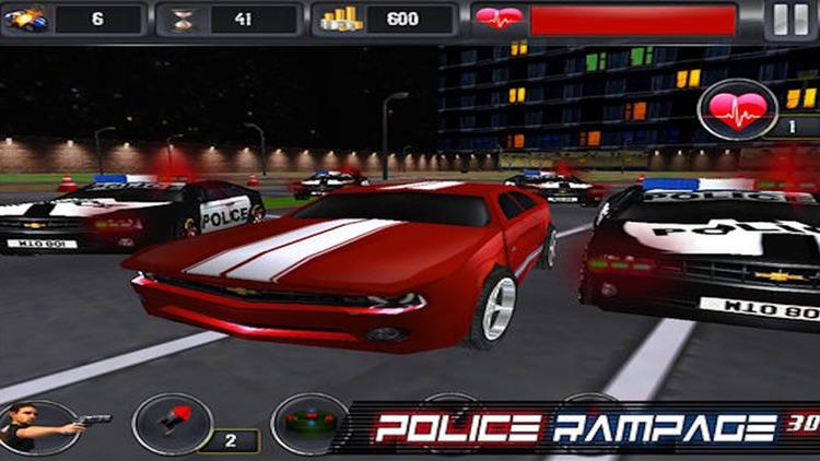 Police Rampage 3D Free ( Car Racing & Shooting Game ) screenshot-3