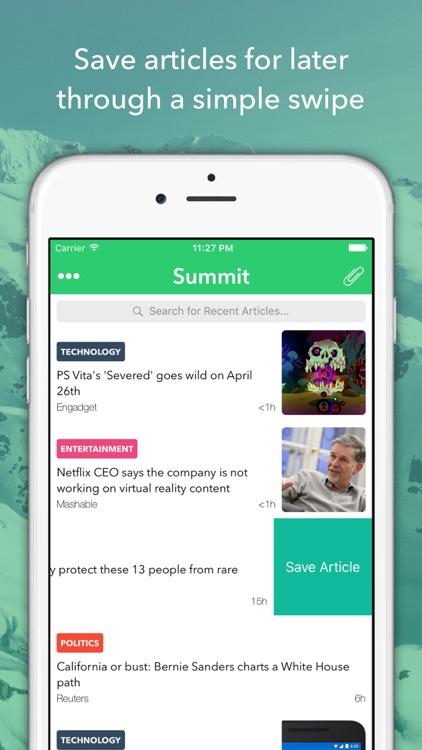 Summit - Summarized News Reader screenshot-3