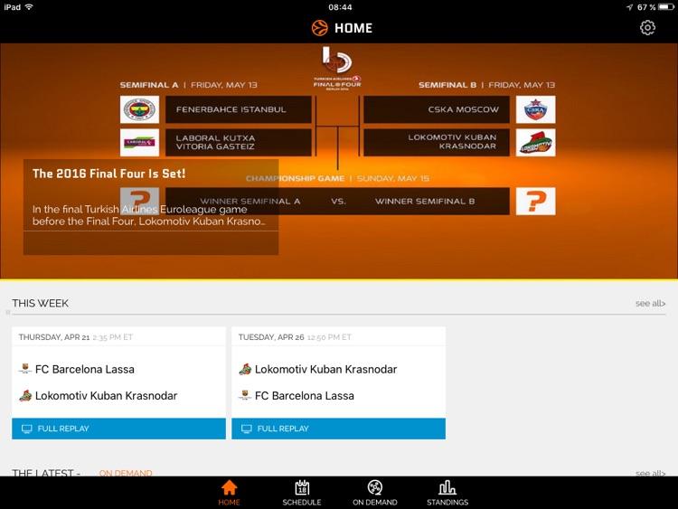 Euroleague TV for iPad screenshot-3