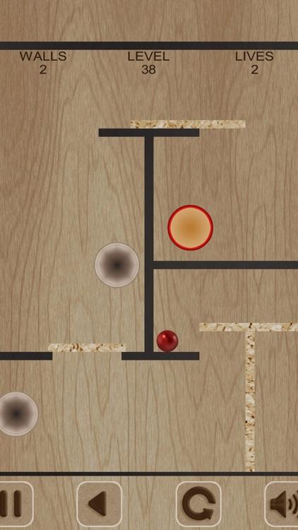 Flying Red Ball and Walls screenshot-4