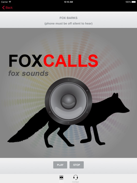 REAL Fox Sounds and Fox Calls for Fox Hunting - BLUETOOTH COMPATIBLE screenshot-0