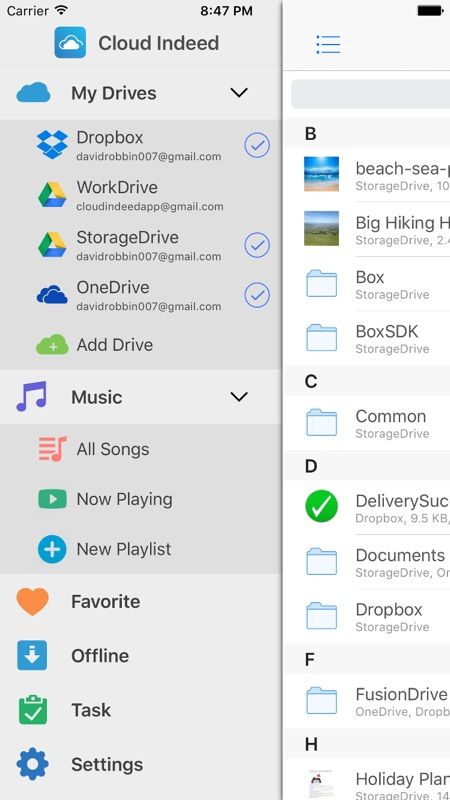 Cloud Indeed - Cloud Manager & Music Player for Google Drive