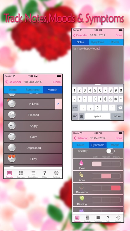 Fertility Period Tracker - Ovulation Tracker & Monthly Cycles with Menstrual Calendar screenshot-4