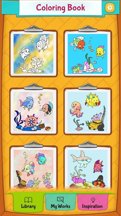 Fish Coloring Pages screenshot-4