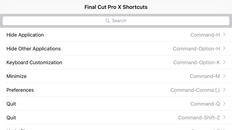Shortcut: Final Cut Pro X Edition screenshot-3