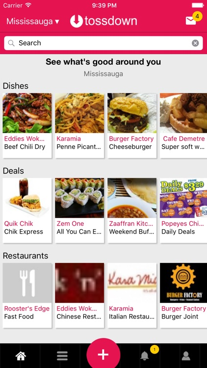 tossdown Restaurant Guide