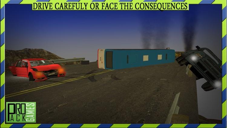 Dangerous Mountain & Passenger Bus Driving Simulator cockpit view - Dodge the traffic on a dangerous highway screenshot-4