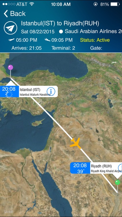 Riyadh King Kahlid Airport - Flight Tracker Premium Saudi Arabian RUH airlines