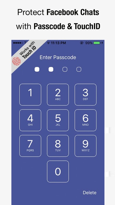 Screenshot for Passcode for Facebook Messenger in Malaysia App Store