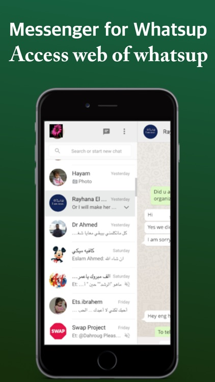 Messenger for watsapp for iPad App