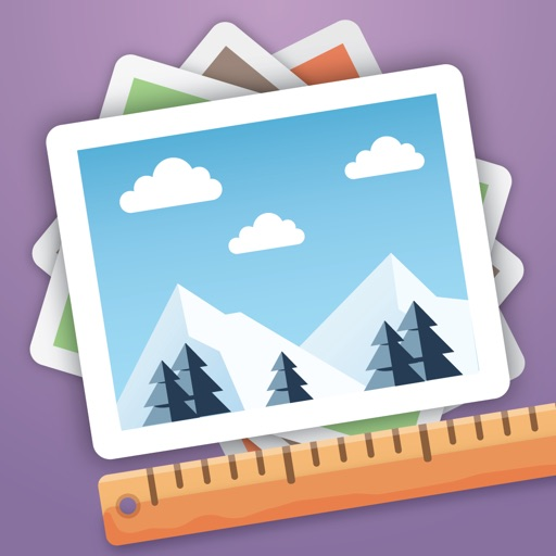 Batch Photo Resize - crop and shrink multiple pictures at once app logo