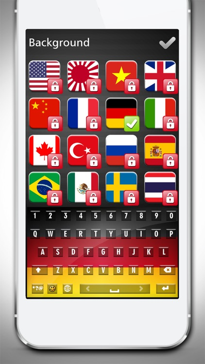 Inter.national Flag Keyboard.s - 2016 Country Flags on Custom Skins with Fancy Fonts for Keyboarding screenshot-3