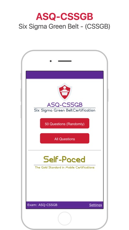 ASQ-CSSGB: Six Sigma Green Belt Certification by Self-Paced Software ...