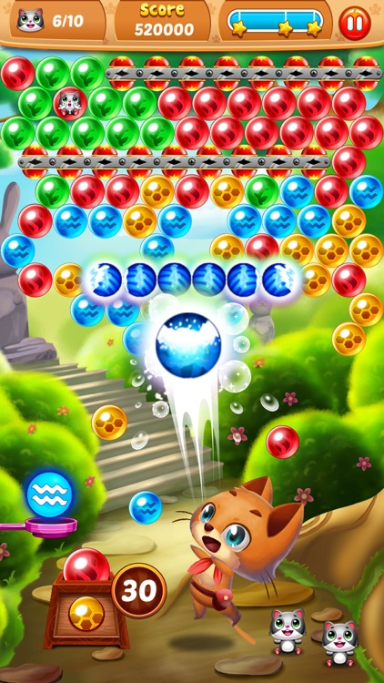 Rescue Witch Kitty Cat Pop - World Bubble Shooter Puzzle screenshot-3