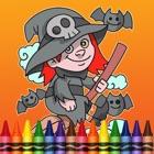 キッドのゲームのためのハロウィンのぬりえ icon