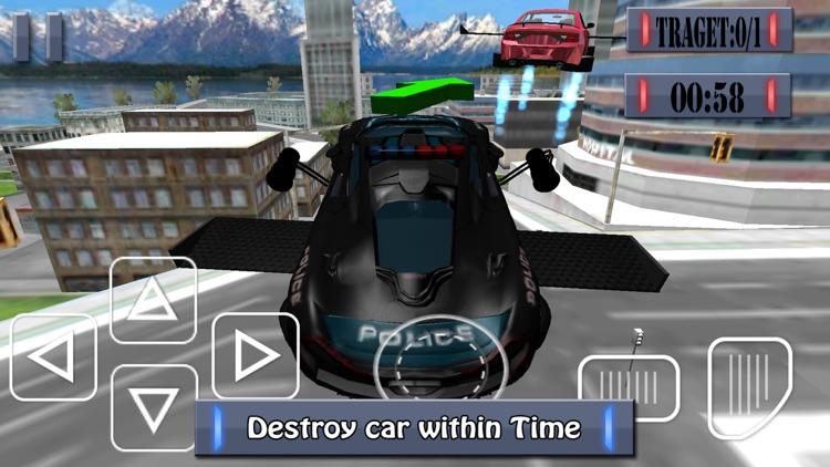 Flying Police Car - Police Chase Mafia Criminal Driver screenshot-4