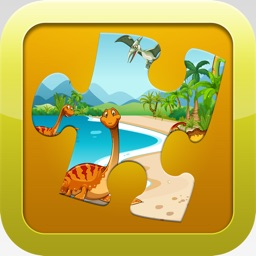 Dinosaur Games for kids Free : Cute Dino Train Jigsaw Puzzles for Preschool and Toddlers