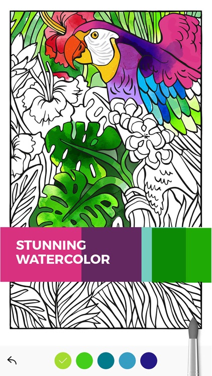 Tayasui Color, a relaxing coloring book for adults screenshot-0
