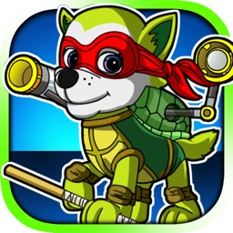 Superhero Ninja Pup - Ultimate Mutant Paw Patrol: Ninja Turtles Edition