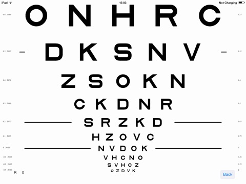 Screenshot 3 For Visionc Visual Acuity Contrast Sensitivity Chart