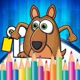 Coloring Book Animals Pages Game for Kindergarten