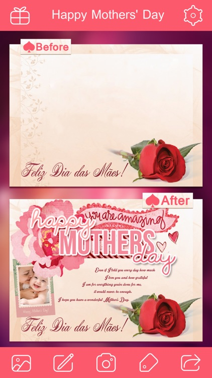 Mother's Day Photo Frame.s, Sticker.s & Greeting Card.s Make.r Pro screenshot-4