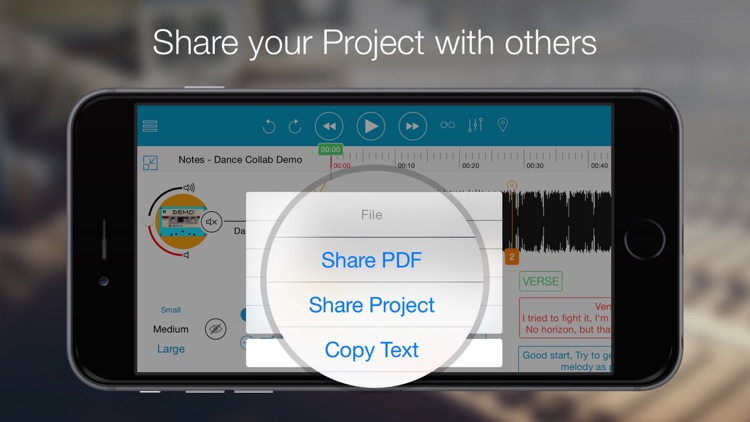 Notetracks - a collaborative platform to review, record and share your music ideas. screenshot-4