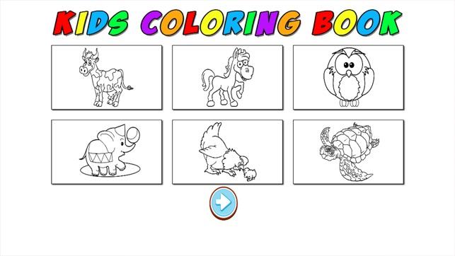 Aprendizaje para la diversión del juego niños colorear Animal lindo ...