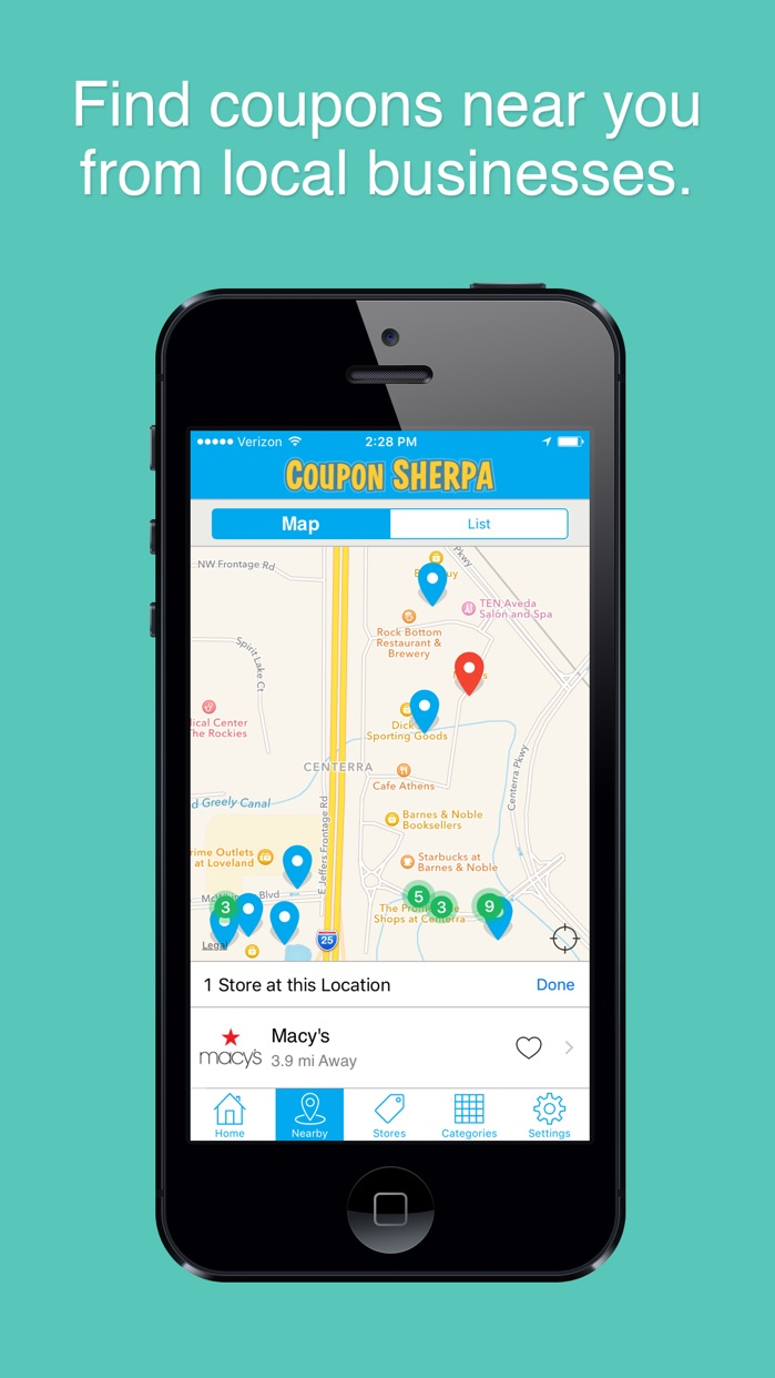 Coupon Sherpa: Free Coupons, Shopping, Local Deals Screenshot