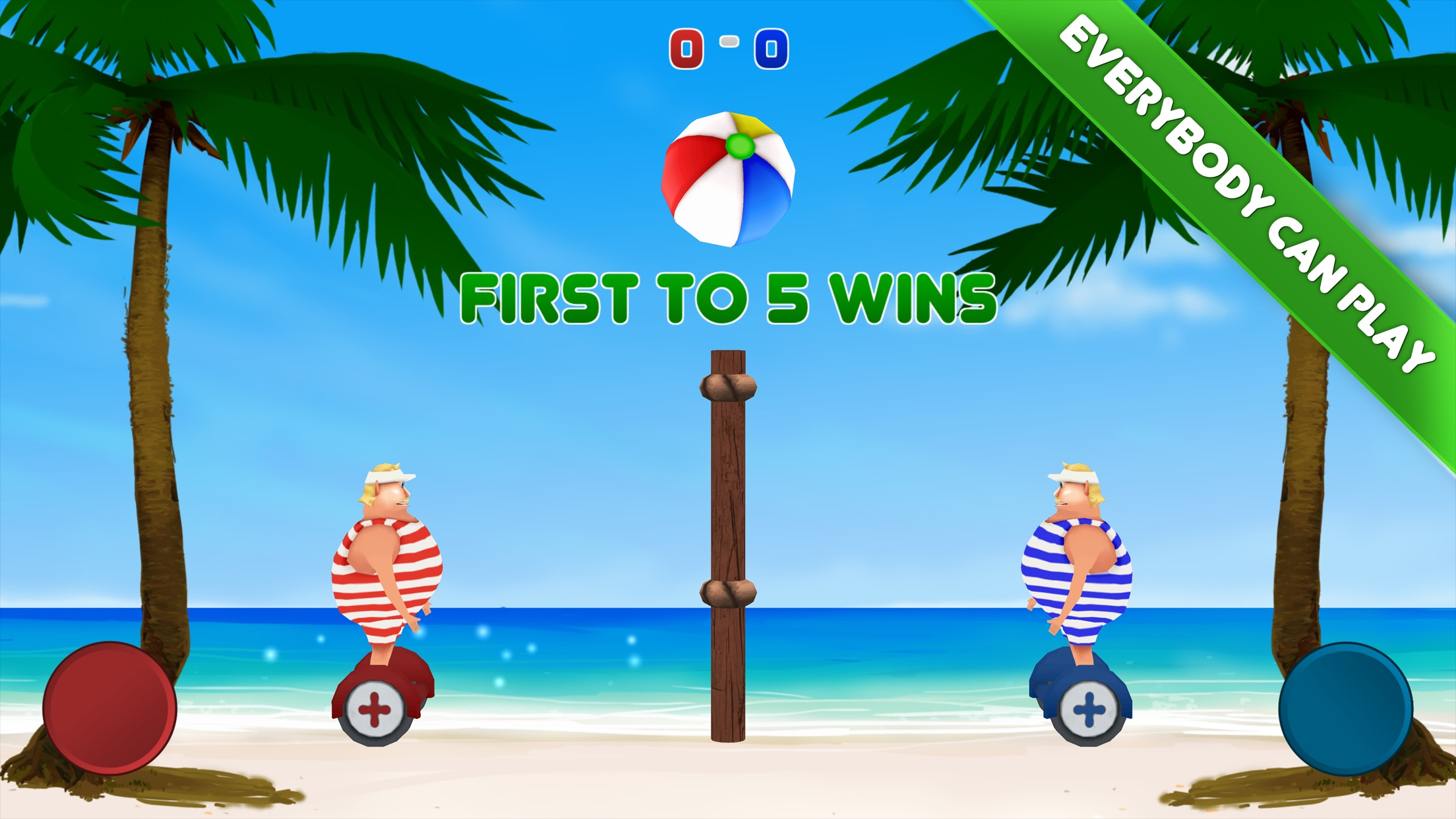 Volley Sumos - Two-player versus game Screenshot