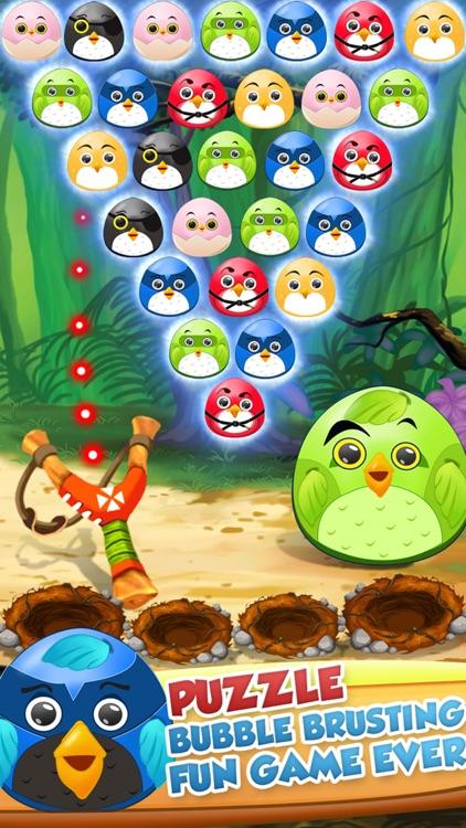 Pop The Birdy - Bubble Shooter Cross Finger Puzzles screenshot-3