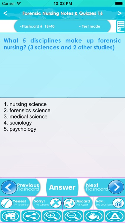Forensic Nursing Test Bank & Exam Review App : 800 Study Notes, flashcards, Concepts & Practice Quiz screenshot-3