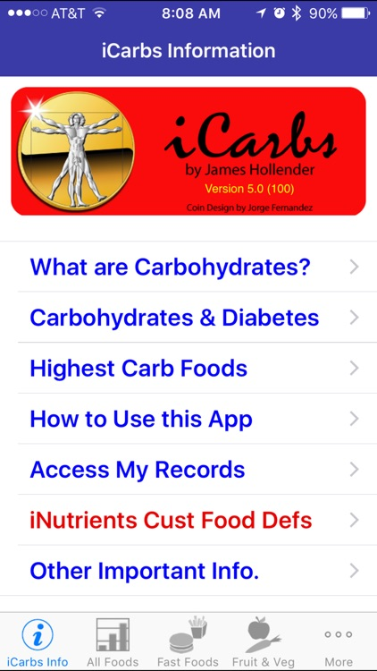 iCarbs - iNutrient: Carbohydrates screenshot-0