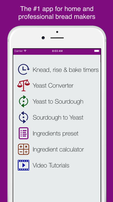 Homemade bread assistant screenshot one