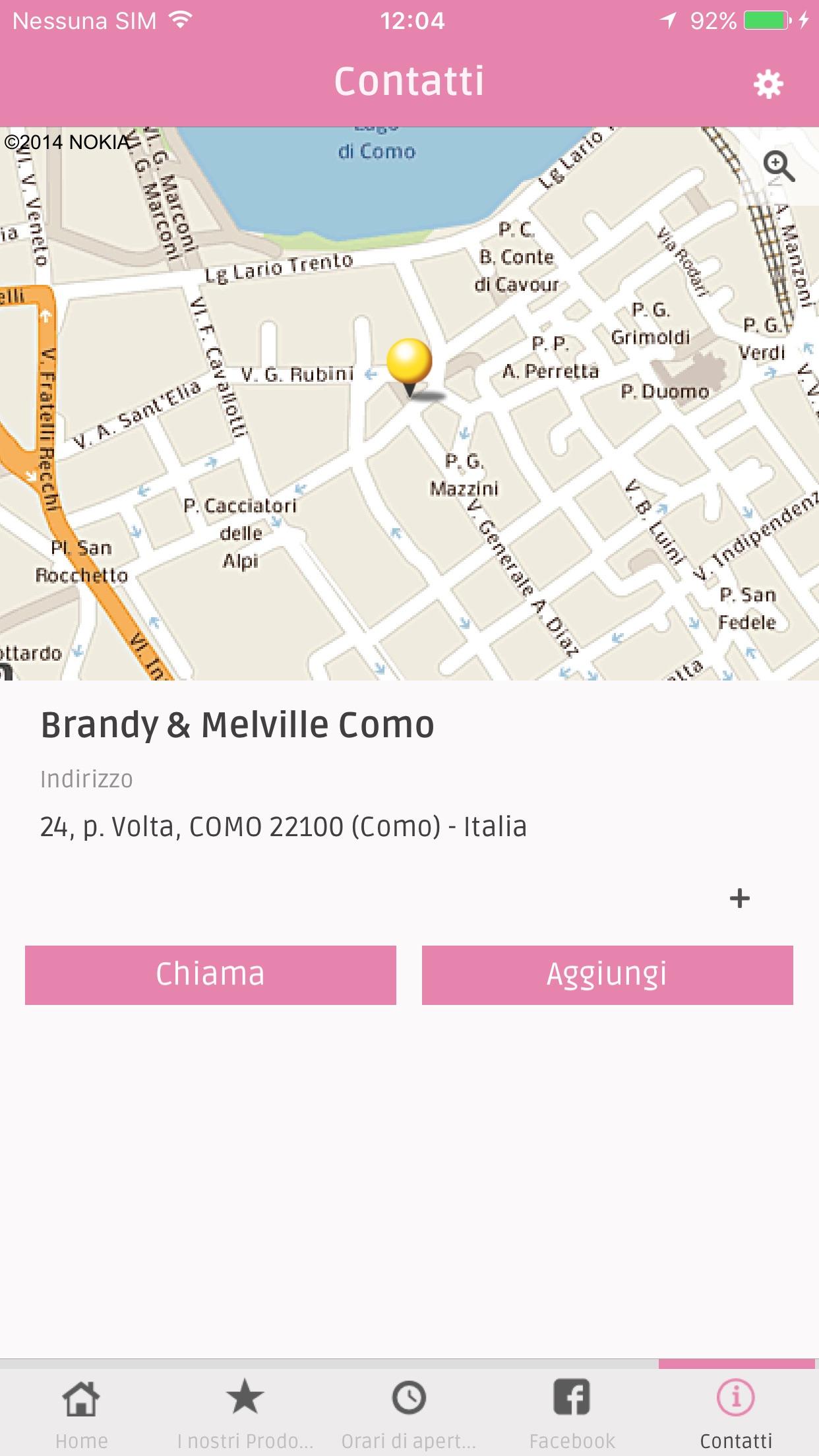 Brandy & Melville Como Screenshot
