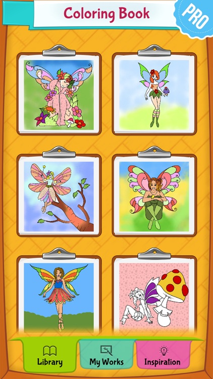 Fairy Coloring Pages PRO: Coloring Game for Kids screenshot-4