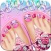 女の子のための足爪のアート ビューティー サロン ゲームかわいいデザインとマニキュアのアイデア