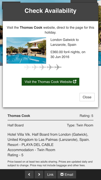City Breaks Holidays and Boutique Hotels screenshot two