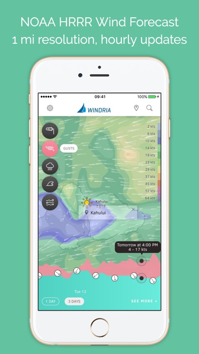 Windria Hawaii NOAA high res wind marine weather forecast by