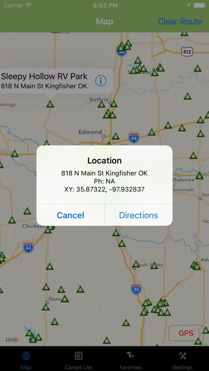 Oklahoma – Camping & RV spots screenshot-3