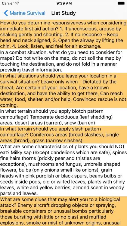 Marine Survival Guide