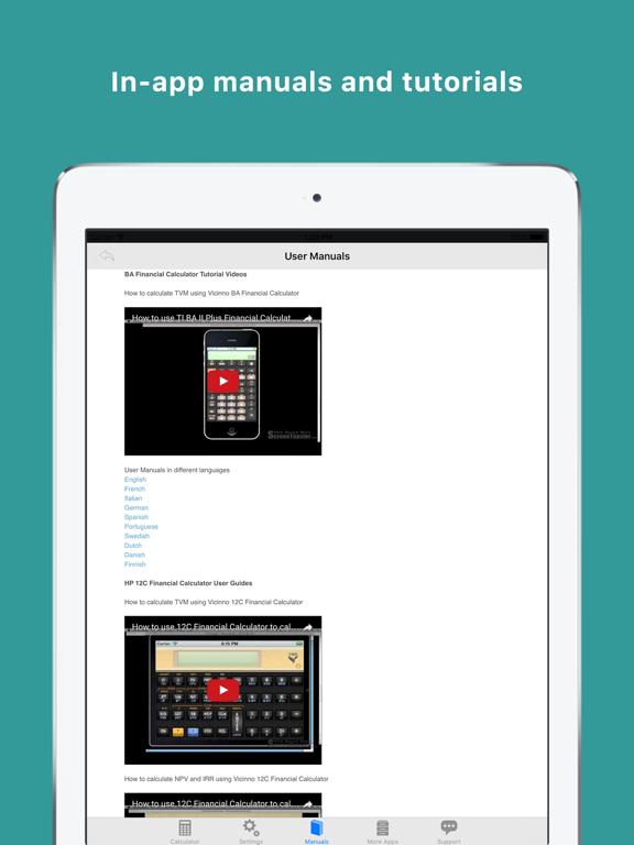 BA Financial Calculator Pro-ipad-3