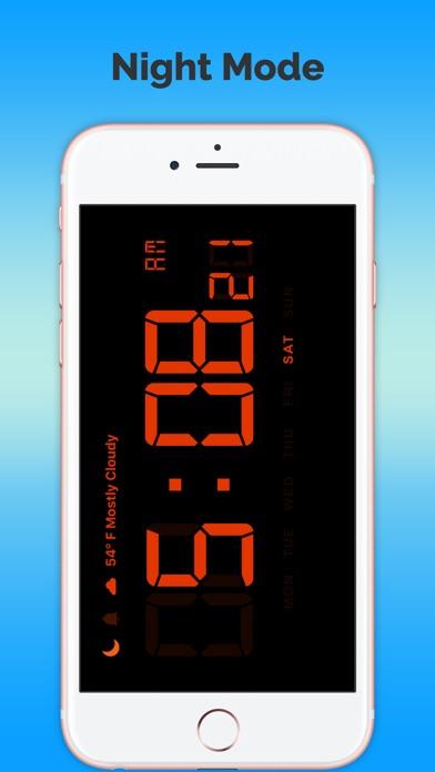 數字預報時鐘免費屏幕截圖4